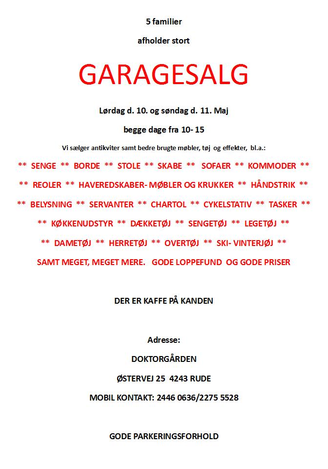 Garagesalg